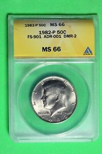 1982 P ANACS MS66 Kennedy Half Dollar #B26771