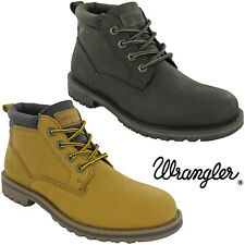Wrangler Mens Ankle Boots Leather Fashion Padded Work Lace Warm Winter Lined