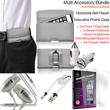 Quality Horizontal Belt Clip Pouch Holster Flip Case Holder✔Accessory Pack✔Grey
