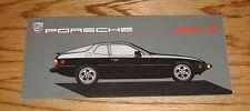 Original 1987 Porsche 924 S Foldout Sales Brochure 87