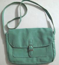 Green Soft Purse 9in x 6in strap drop 19in