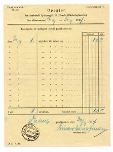 NORWAY: Postal form, Radio licence, Valnes I Bodin 1944.