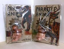 KIKKAKE STRAIGHT BROWN DEER AND BEAR PARASITE ANIMALS JAPAN SOFUBI NEW KAIJU
