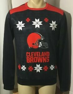 Cleveland Browns Ugly Holiday Christmas Sweater Mens Small NFL NEW NWT
