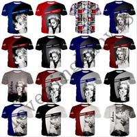 popular star madonna 3D Print Casual T-Shirt New Men Women Short Sleeve Tee Tops