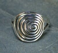 Sterling Silver Spiral Ring - Sizes 5 6 7 8 - UK Seller