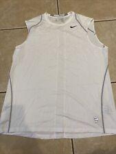 Men's Nike Pro White Dri-Fit Sleeveless Tank Top Size Xxl
