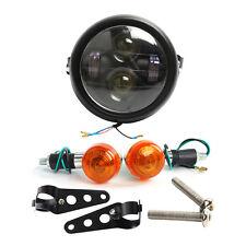 "Motorcycle 6.5"" LED Projector Daymaker Headlight + Turn Singal Lights + Bracket"