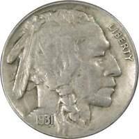 1931 S Indian Head Buffalo Nickel 5 Cent Piece VF Very Fine 5c US Coin