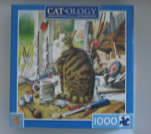 NELSON - Cat-ology by Geoffrey Tristram - Masterpieces 1000 piece puzzle  - NEW