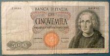 ITALY 5000 5 000 LIRE, P 98 c, ISSUED 20.01. 1970,  CARLI / LOMBARDO, ONE SHIP