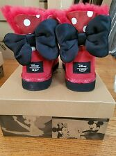 UGG DISNEY MINNIE MOUSE RED SWEETIE BOW CLASSIC BOOTS kids 3US/33EU 5W NIB