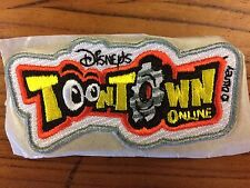 X2 RARE Disney Toontown Online Iron on logo Patches (pair)