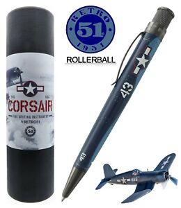 Retro 51 #VRR-1963 Corsair Metalsmith Tornado Rollerball Pen