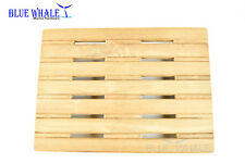 """BLUE WHALE 18"""" × 13"""" Wall Mount Fold Down Teak Shower Bench/ Seat from USA"""