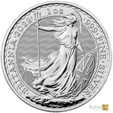 More details for 2022 silver britannia 1 oz silver bullion coin in rimless coin capsule pre-order