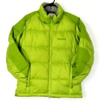 Marmot 650 Fill Goose Down Women's Small Puffer Jacket Lined Green
