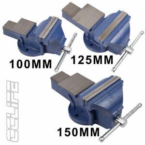 Schraubstock 100 125mm Spannweit für Werkbank Feststehend Parallelschraubstock