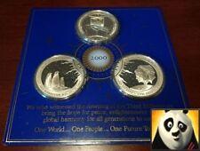 2000 DAWN NEW MILLENNIUM KIRIBATI & PITT & BALLENY Islands Silver Coin Medals
