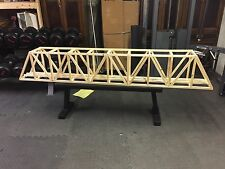 "96"" G-Scale Ceiling Railroad Overhead Truss Bridge (not stained)"