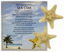 Legend Of the Sea Star - Set of 2 Small Genuine Bumpy Starfish with story card