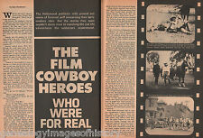 Hollywood Film Cowboys Who Were For Real+Anderson,Caldwell,Cody,Cruce,Dickney,