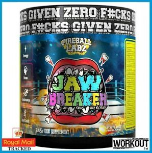 Fireball Labz Jaw Breaker Pre Workout Energy Focus Endurance 345g 30 Servings