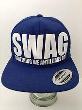 Swag Hat Cap 'Something We Antillians Got' Blue SnapBack Large Letters EUC