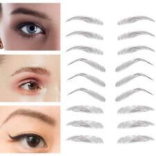 3D Hair-like Eyebrows Makeup Waterproof Lasting Eyebrow Tattoo Sticker Easy #co