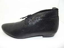 NEW LADIES GIRLS EX STORE ABIS BLACK LEATHER PIXIE ANKLE BOOTS BOOTIES 3 - 8