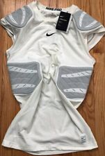 NIKE PRO HYPERSTRONG COMPRESSION SLEEVELESS 4 PAD FOOTBALL TOP SHIRT WHITE XXL