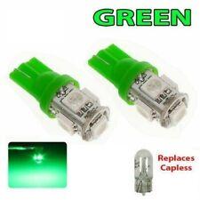 2 X T10 501 LED Verde 5050 W5W 5 SMD Coche cuña interior lado van Bombilla 12v