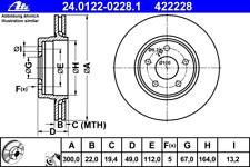 Bremsscheibe (2 Stück) - ATE 24.0122-0228.1