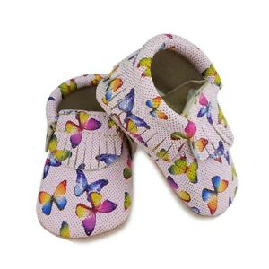 First Steps Butterfly Moccasins in Pink