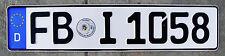 German License Plate Germany License Plate FBI F.B.I.  # FBI 1058