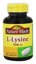 Nature Made - L-Lysine 1000 mg. - 60 Tablets EXP 3/2020