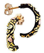 Landstrom's® Black Hills Gold on Black Powder Coated Earrings