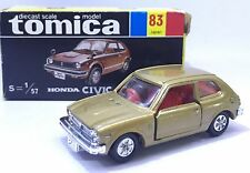 MADE IN JAPAN TOMY TOMICA HONDA 1974 CIVIC GL RACING 1/57 DIECAST TOY CAR GOLD