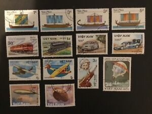VIETNAM - SELECTION OF 14 X TRANSPORT STAMPS CTO