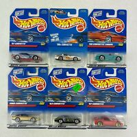 1990's Hot Wheels Corvette Variety Lot of 6 Different Cars