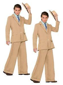 Gold Coast Gentleman Adults Suit 1920s Fancy Dress Costume Mens New