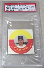 1992 Carol Wright Baseball Buttons Proof h/c Nolan Ryan PSA AUTHENTIC