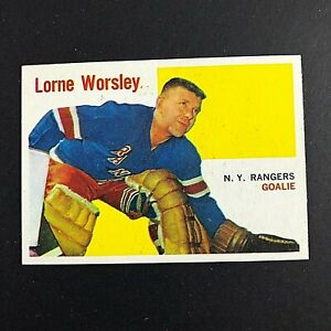 1960-61 Topps #36 Gump Worsley  Team: New York Rangers