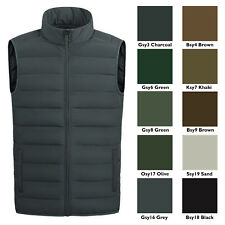 Men's Full Zip Warm Outerwear Packable Puffer Vest Jacket