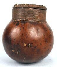 Art Africain Ancien - Adorable Récipient Usuel en Calebasse Senoufo - 12,3 Cms