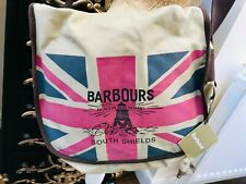 NEW BARBOUR CANVAS  & LEATHER UNION JACK MESSENGER BAG R.R.P. £159.00