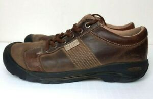 KEEN Mens Brown Leather Lace Up Comfort Shoe Sz 11.5