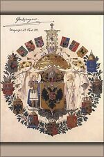 Poster, Many Sizes; Greater Coats Of Arms Of The Russian Empire The Sketch Of Ad