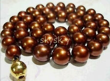 """Pretty 8mm Chocolate Akoya shell Pearl Necklace 18"""" AAA"""