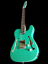 2018 TELE STYLE 6 STRING SEMI HOLLOW BOUND ELECTRIC GUITAR SEAFOAM GREEN